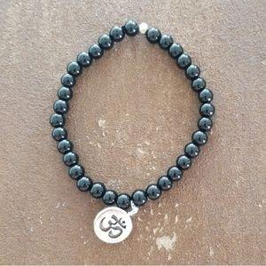 Other - Men's Black Beaded Bracelet